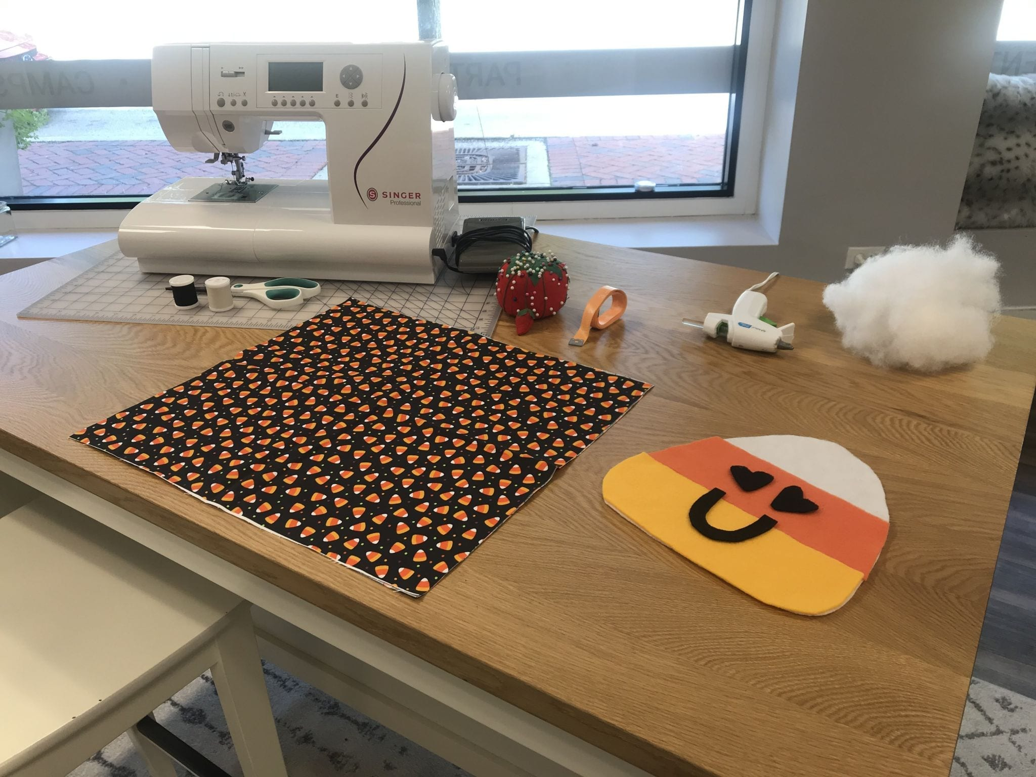 Halloween Pillow: Weekend Workshop: Sunday, October 10 from 3:30-5:30 PM